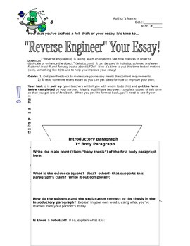 Reverse-Engineering Essay Peer/Self Review Activity