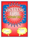 Reverse FOIL (Quadratic Factoring)Scavenger Hunt