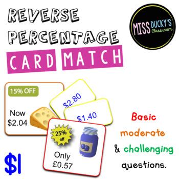Reverse Percentage Matching Activity