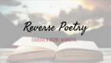 Reverse Poetry (Palindrome Poetry)