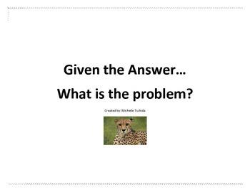 Reverse Problem Solving Station