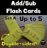 Double Sided Addition and Subtraction Flash Cards Up to 5