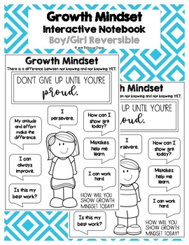 Reversible Growth Mindset Motivator - Interactive Notebook