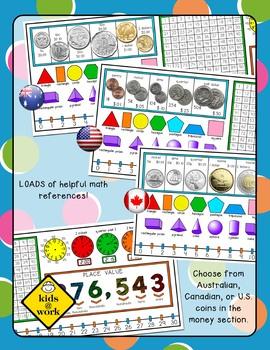 Reversible Name Tag, Desk Tag, Math, ELA, Second Grade