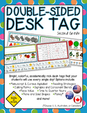 Double-Sided Name Tag (Desk Tag), Second Grade, U. S. or Australian Coins