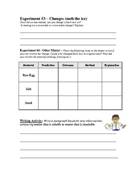 Reversible and Irreversible Changes - Interactive Worksheets