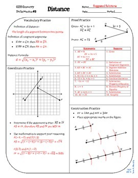 Review #3 Distance Geometry CCSS