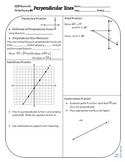 Review #7 Perpendicular Lines Geometry CCSS
