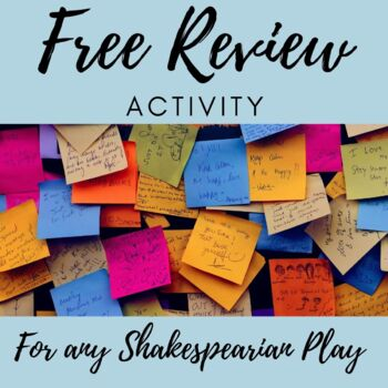 Review Activity for Shakespeare's Plays