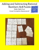 Review Adding and Subtracting Rational Numbers:  4 x 4 Math Puzzle