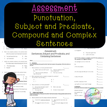 Review Assessment - Sentences, Subject and Predicate, and Combining Sentences