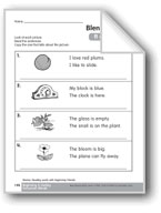 Review Beginning Consonant Blends: /fl/, /cl/, /gl/, /bl/, and /pl/
