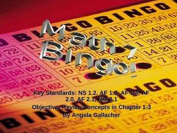 Review Bingo Game