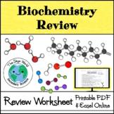 Biochemistry Review Worksheet