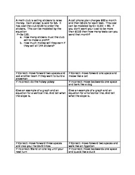 Review Board Game for Linear Equations