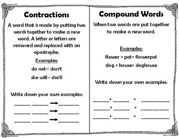 Review Book: Synonyms/Antonyms, Homographs/Homonyms, Contractions/Compound Words