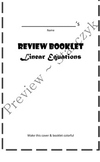 Review Booklet for Linear Equations