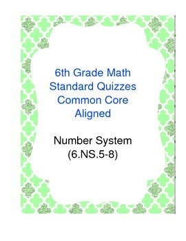 Review Centers Number System 6.NS.5-8 Common Core Aligned
