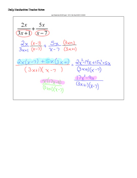 Review Chapter (Complete) for Algebra II 2
