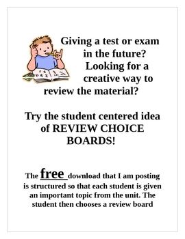 Review Choice Board - FREE!!