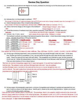 Review Day Question Sheet for Molecular Geometry in AP Chemistry