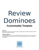 Review Dominoes Template