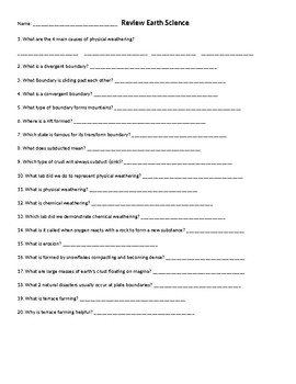 Physical And Chemical Weathering Worksheets & Teaching ...