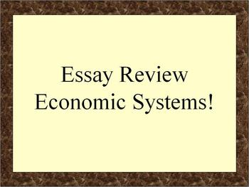 Review: Economic Systems in Global History (NYS)