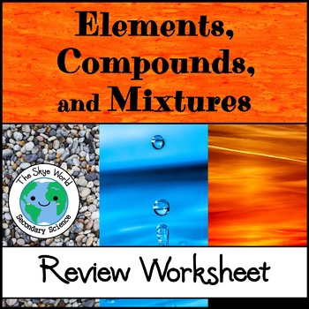 Review - Elements, Compounds, and Mixtures