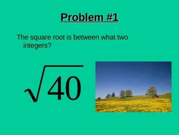 Review Exponents, Square Roots, Pythagorean Theorem.