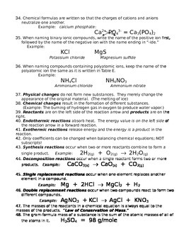 Review Full Course Chemistry Packet