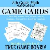 8th Grade Math Game Cards TEKS