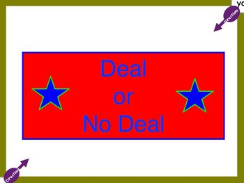 Review Game: Deal or No Deal