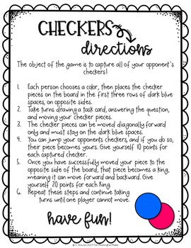 Review Game Directions (for Dollar Spot inflatable games)