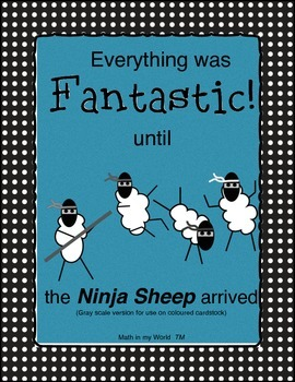 Review Game-Everything was Fantastic until the Ninja Sheep Arrived (gray scale)