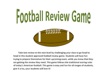 Review Game - Study any topic while playing football