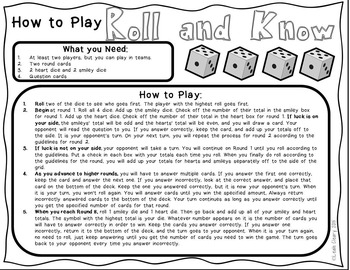 Review Game For Any Subject With Editable Cards