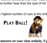 Review Game Idea (Baseball Theme, Any Subject / Grade Level)