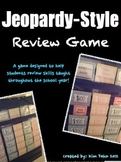 Review Game Jeopardy Style! (7 different literacy review c