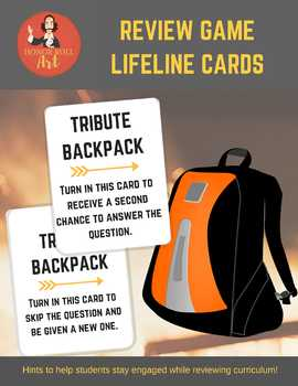 Review Game Lifeline Cards (Hunger Games-style) - Works wi