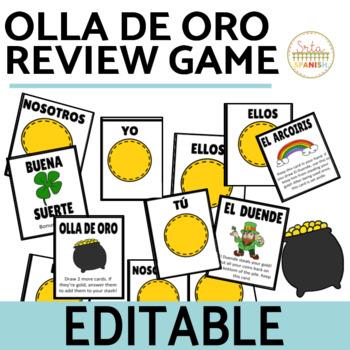 Review Game Olla de Oro EDITABLE TEMPLATE