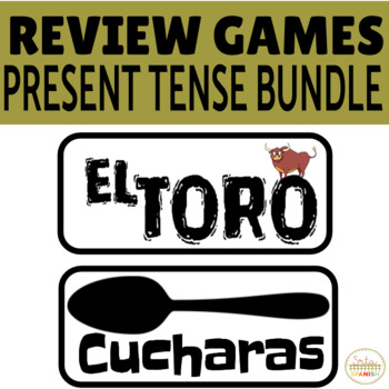 Review Game Pack PRESENT TENSE BUNDLE