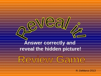 Review Game - Reveal the Pictures!