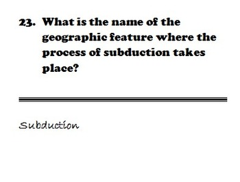 Plate Tectonics Review Game - Scavenger Hunt