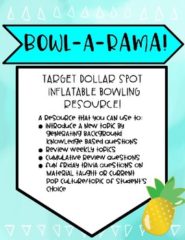 Review Game - Target Dollar Spot Inflatable Bowling Game