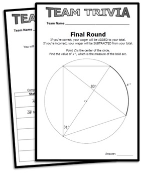 Review Game: Team Trivia - GSE Geometry (editable for other courses)
