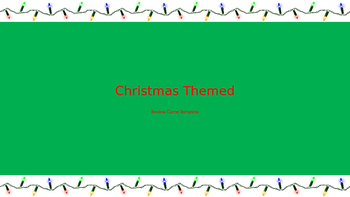 Review Game Template - Christmas