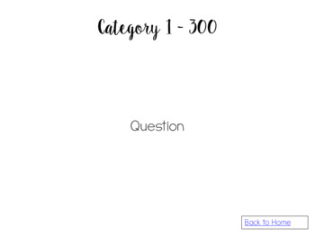 Review Game Template - Four Category