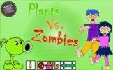 Review Game Template - Plants Vs. Zombies - Power Point Interactive Game