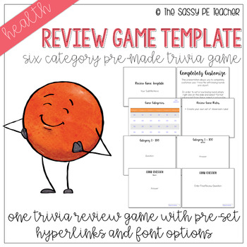 Review Game Template - Six Category